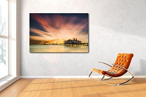 Exklusives Glasbild in Galerie Qualität. Rügen. Seebrücke von Sellin im Sonnenaufgang. Limited Edition. Auflage: 150 Stück. Echtglasbild als Wandbild Wand Kunst Bild   Foto Fotografie   Wanddeko - 6
