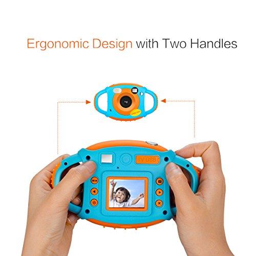 Tyhbelle Digital Kamera für Kinder Kinderkamera mit Wiederaufladbare Batterien 500 Millionen Pixel 1,77-Zoll-Farbbildschirm (Orange) - 3