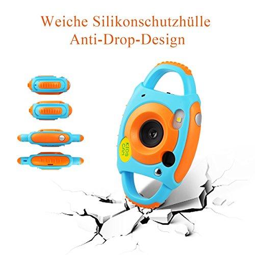 Tyhbelle Digital Kamera für Kinder Kinderkamera mit Wiederaufladbare Batterien 500 Millionen Pixel 1,77-Zoll-Farbbildschirm (Orange) - 4
