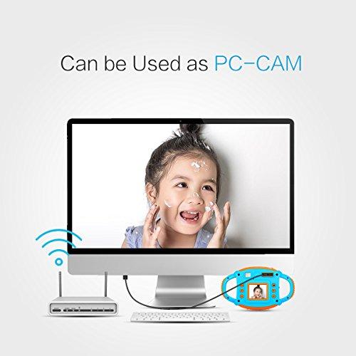 Tyhbelle Digital Kamera für Kinder Kinderkamera mit Wiederaufladbare Batterien 500 Millionen Pixel 1,77-Zoll-Farbbildschirm (Orange) - 6
