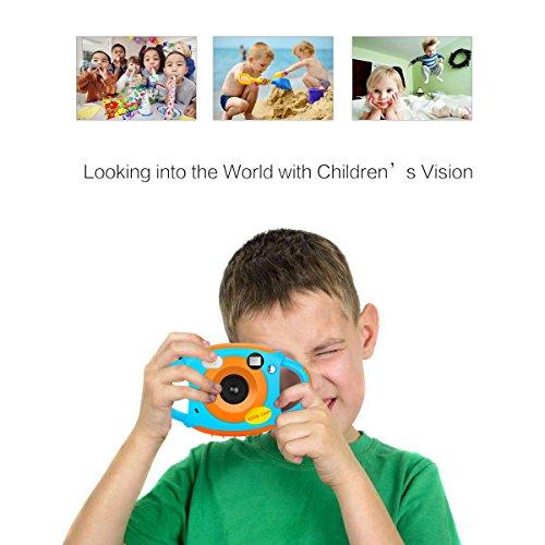 Tyhbelle Digital Kamera für Kinder Kinderkamera mit Wiederaufladbare Batterien 500 Millionen Pixel 1,77-Zoll-Farbbildschirm (Orange) - 7