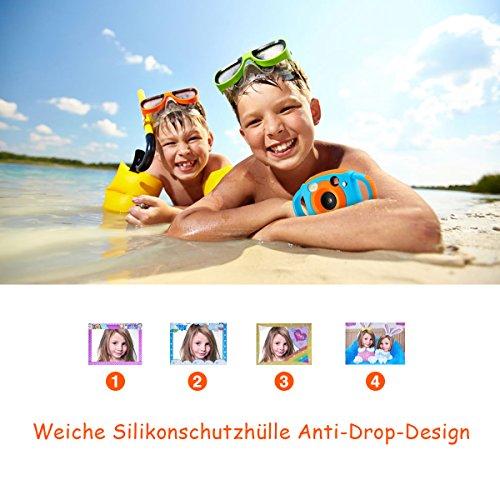 Tyhbelle Digital Kamera für Kinder Kinderkamera mit Wiederaufladbare Batterien 500 Millionen Pixel 1,77-Zoll-Farbbildschirm (Orange) - 9