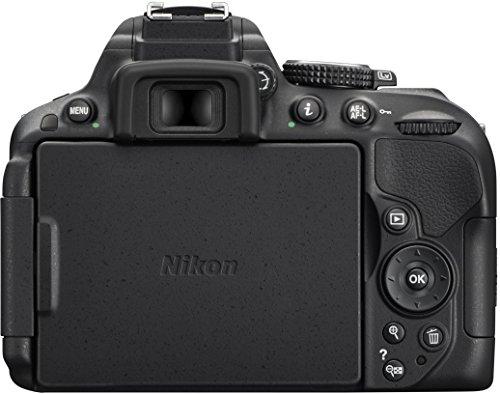 Nikon D5300 SLR-Digitalkamera (24,2 Megapixel, 8,1cm (3,2 Zoll) LCD-Display, Full HD, HDMI, WiFi, GPS, AF-System mit 39 Messfeldern) Kit inkl. AF-S DX 18-105 VR Objektiv schwarz - 4
