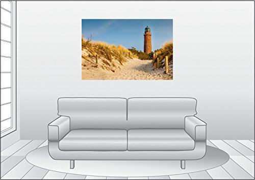 Premium Textil-Leinwand 120 cm x 80 cm quer Leuchtturm Darßer Ort im Herbstlicht (Mecklenburg-Vorpommern) | Wandbild, Bild auf Keilrahmen, Fertigbild auf echter Leinwand, Leinwanddruck - 5
