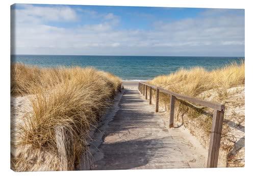 Posterlounge Leinwandbild - Weg Zum Strand an der Ostsee