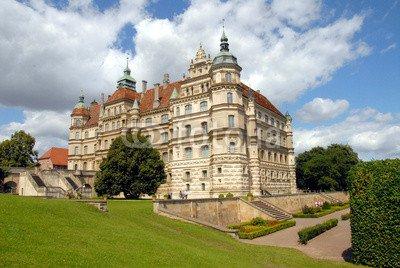 """Leinwand-Bild 110 x 70 cm: """"Schloss Güstrow, Schlosspark, Mecklenburg-Vorpommern, Güstrow"""", Bild auf Leinwand"""
