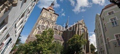 "Leinwand-Bild: ""Marienkirche, Rostock"""