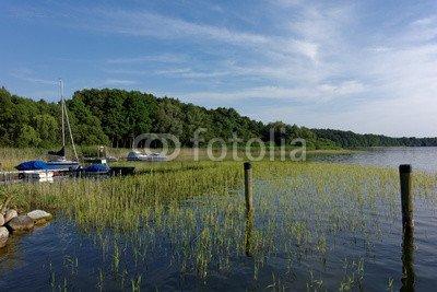 """Leinwand-Bild: """"Hafen in Zislow am Plauer See"""""""