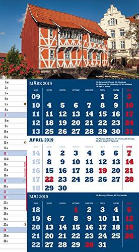 Mecklenburg-Vorpommern 2019 3-Monatskalender: Praktischer Monatsplaner mit meckl.-vorp. Kalendarium - 5