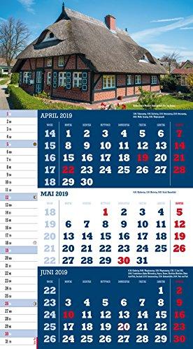 Mecklenburg-Vorpommern 2019 3-Monatskalender: Praktischer Monatsplaner mit meckl.-vorp. Kalendarium - 6