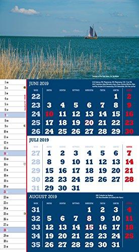 Mecklenburg-Vorpommern 2019 3-Monatskalender: Praktischer Monatsplaner mit meckl.-vorp. Kalendarium - 8