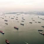 Blick auf Singapur - in der Ausstellung ''Containerhäfen dieser Welt''. (Foto: Christiane Volgmann / Konstantin Winogradow)